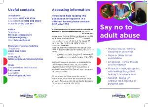 07- Say No to Abuse Leaflet