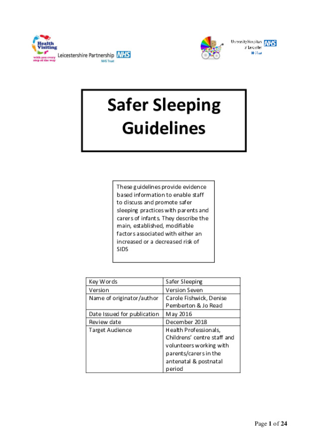 Safer Sleeping Guidlines