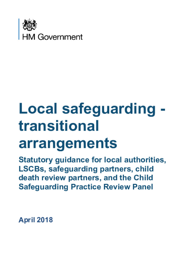 Local Safeguarding Transitional Arrangements