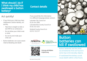 Button Battery Safety Leaflet